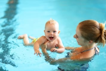baby and parent swimming lessons